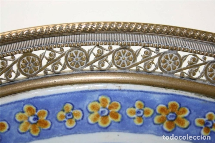 Antigüedades: CENTRO DE MESA. PORCELANA Y BRONCE DORADO. FRANCIA?. SIGLO XVIII-XIX - Foto 6 - 64112807