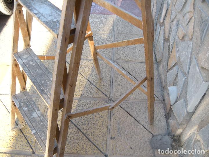 Antigüedades: ANTIGUA ESCALERA DE MADERA - Foto 2 - 64114743