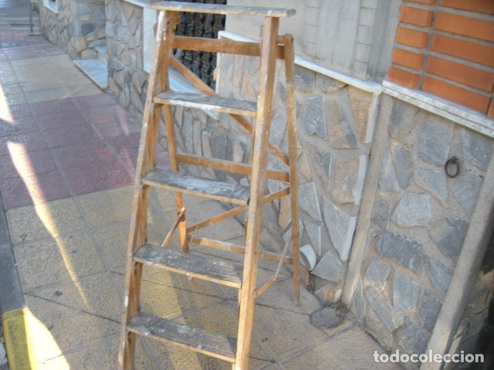 Antigüedades: ANTIGUA ESCALERA DE MADERA - Foto 3 - 64114743