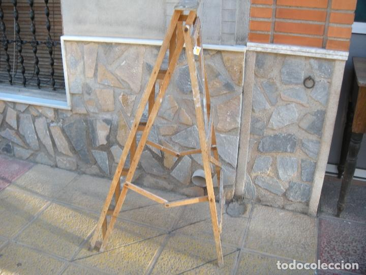 Antigüedades: ANTIGUA ESCALERA DE MADERA - Foto 4 - 64114743