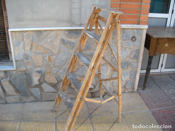 Antigüedades: ANTIGUA ESCALERA DE MADERA - Foto 5 - 64114743