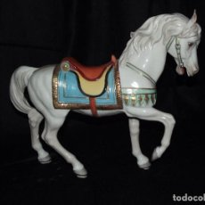 Antigüedades: CABALLO GRANDE EN AUTÉNTICA PORCELANA ALGORA DOCUMENTADA. MUY POCO FRECUENTE EN PERFECTO ESTADO.. Lote 64138675