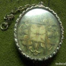 Antigüedades: ANTIGUO RELICARIO EN PLATA, 4X5 CM. CA2. Lote 64216863