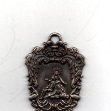 Antigüedades: ANTIQUISIMA MEDALLA DE LA COFRADIA DEL DESCENDIMIENTO DE ELCHE,LEYENDA 1856,7 CMS DE ALTA. Lote 64241803