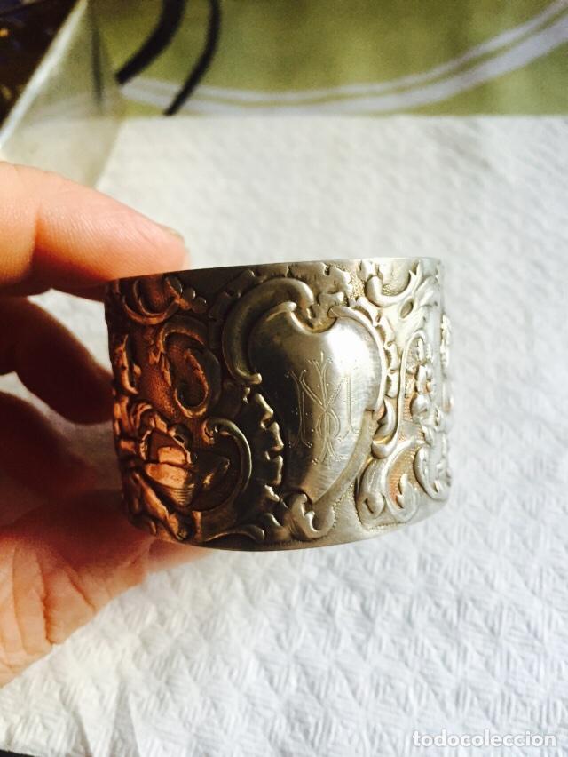 Antigüedades: Lote de 2 servilleteros en plata de ley - Foto 5 - 64287071