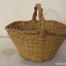 Antigüedades: CESTA ESPARTO TRENZADO - CESTO. Lote 64288515