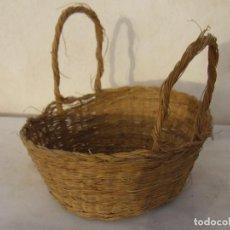 Antigüedades: CESTA ESPARTO TRENZADO - CESTO. Lote 64289123