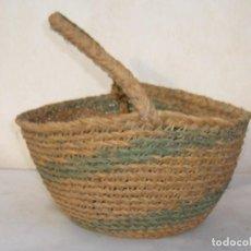 Antigüedades: CESTA ESPARTO TRENZADO - CESTO. Lote 64289551