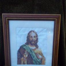 Antigüedades: CRISTO BORDADO. Lote 64297855