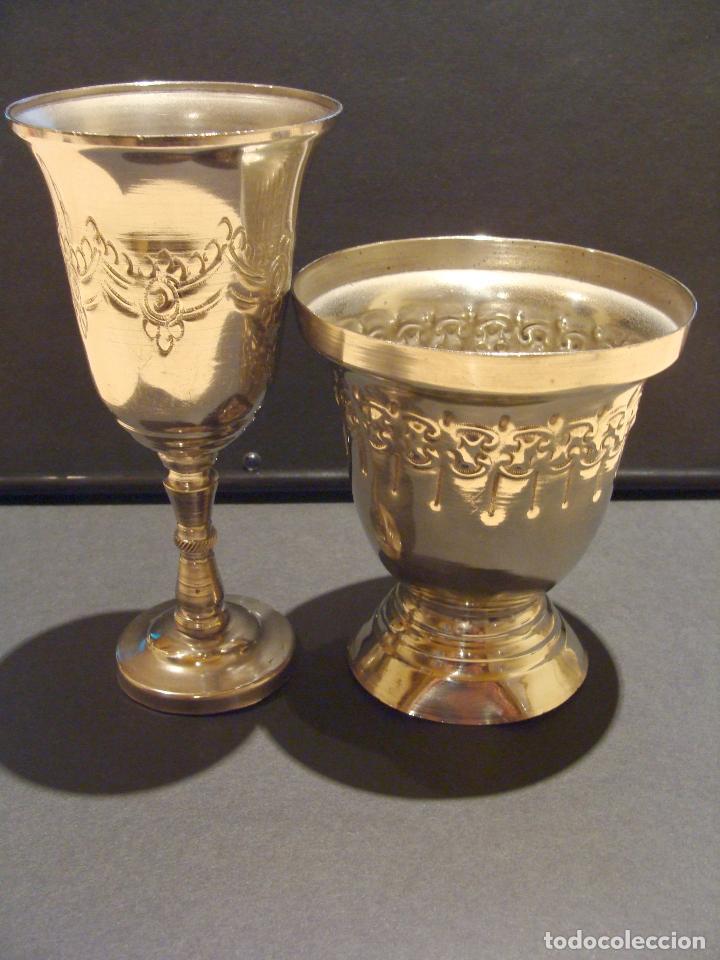 Antigüedades: LOTE COPA Y LAMPARÍN MARRUECOS - Foto 4 - 64301075
