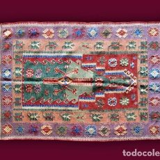Antigüedades: ALFOMBRA - TAPIZ: KILIM - TURQUÍA (108 X 149 CM.). Lote 64317915
