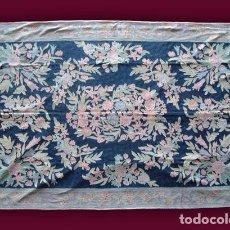 Antigüedades: ALFOMBRA - TAPIZ: GANCHILLO - INDIA (281 X 182 CM.). Lote 64319691