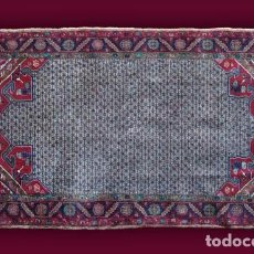 Antigüedades: ALFOMBRA - TAPIZ: GANCHILLO - INDIA (220 X 130 CM.). Lote 64320215