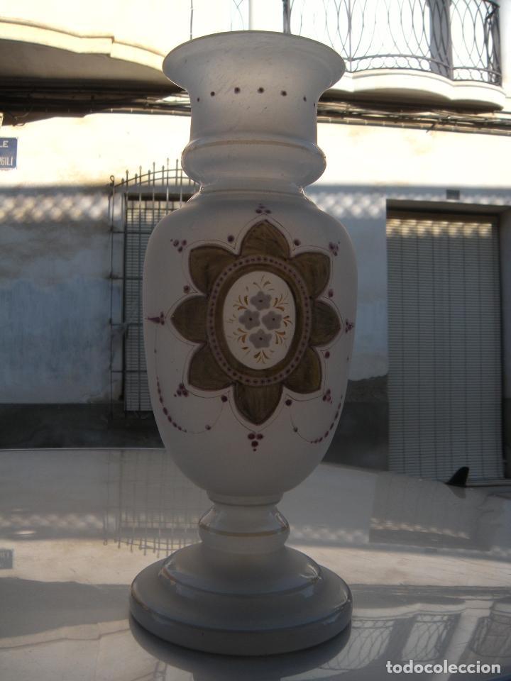 Antigüedades: ANTIGUO JARRÓN EN CRISTAL DE LA GRANJA. - Foto 8 - 64346499