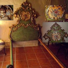 Antigüedades: CAMA DE OLOT S XIX ANGELES. Lote 64392723