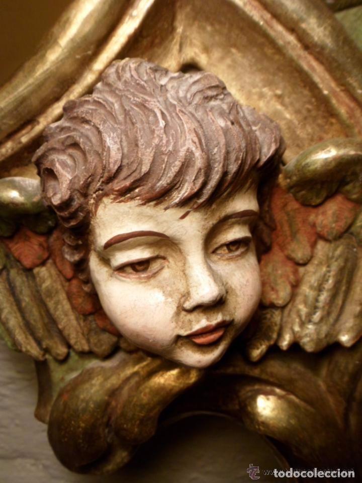 Antigüedades: Cama de Olot S XIX angeles - Envio gratuito Aragón, Cataluña, Valencia - Foto 8 - 64392723