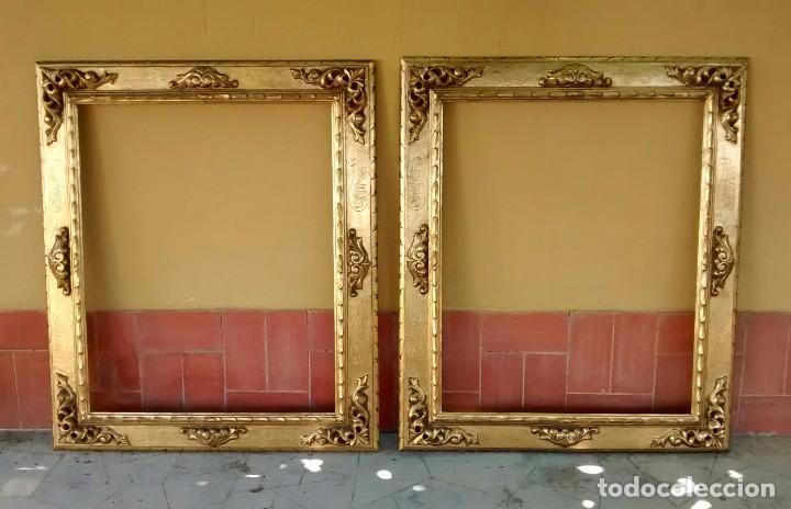 Dos grandes marcos antiguos comprar marcos antiguos de cuadros en todocoleccion 64407611 - Marcos para cuadros grandes ...