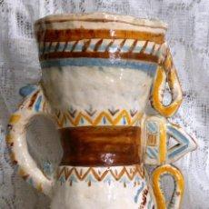 Antigüedades: INTERESANTE Y CURIOSO RECIPIENTE CERÁMICO ANTIGUO.. Lote 64412859