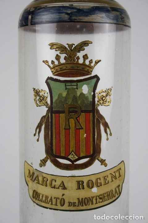 Antigüedades: BOTELLA DE LICOR. MARCA DE LA FAMILIA ROGENT. COLLBATÓ. SIGLO XIX. - Foto 2 - 40225370