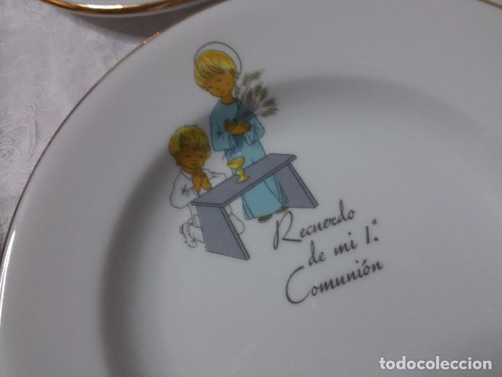 Antigüedades: CONJUNTO DE PLATOS - MI PRIMERA COMUNIÓN-SANTA CLARA - Foto 18 - 64421727