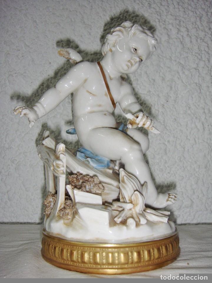 Antigüedades: Figura de Porcelana de ALGORA. Ángel. Estación de Invierno. Joyería Mexia - Cádiz. - Foto 6 - 64456407