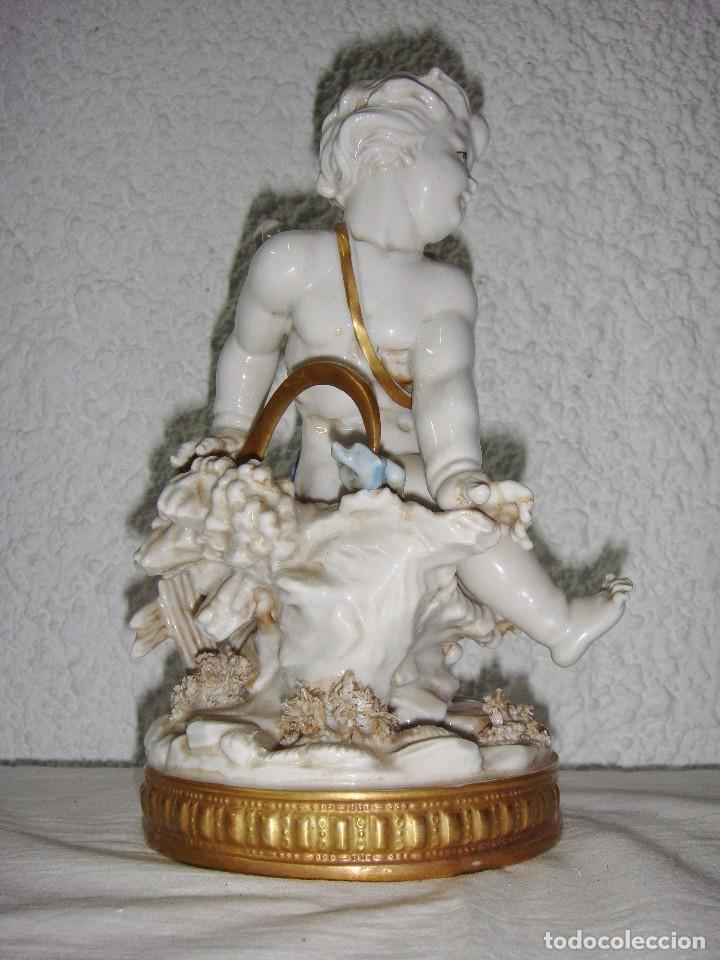 Antigüedades: Figura de Porcelana de ALGORA. Ángel. Estación de Verano. Joyería Mexia - Cádiz. - Foto 2 - 64456751