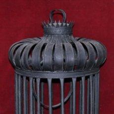 Antigüedades: ANTIGUA JAULA EN HIERRO DEL SIGLO XIX, PROCEDENTE DE URUGUAY (NARCISO CALBÓ Y MIRO). Lote 64460455
