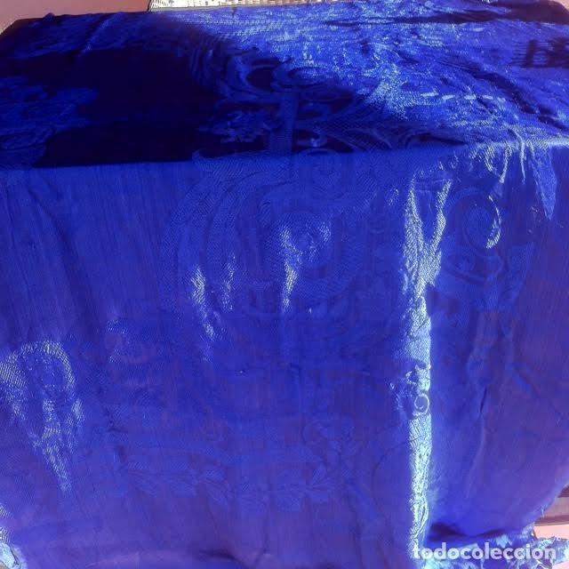 Antigüedades: Preciosa Antigua colcha adamascada principios siglo XX ideal decoracion - Foto 5 - 175875158