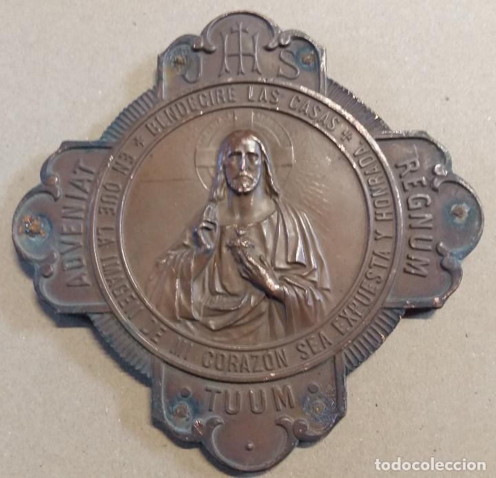 Placa de cobre sobre base de madera religiosa comprar - Placa de madera ...