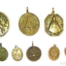 Antigüedades: MR128 COLECCIÓN DE MEDALLAS DE LA VIRGEN DE MONTSERRAT Y SAN BENITO,Y OTRAS.XVII-XVIII. Lote 56502493