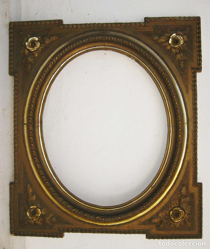 antiguo original marco isabelino madera al oro fino y dorado en madera ideal pintura espejo fotos