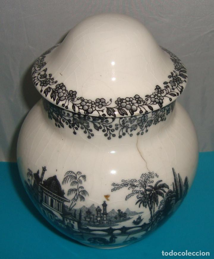 BOTE - TIBOR - AZUCARERO PORCELANA PICKMAN (Antigüedades - Porcelanas y Cerámicas - La Cartuja Pickman)