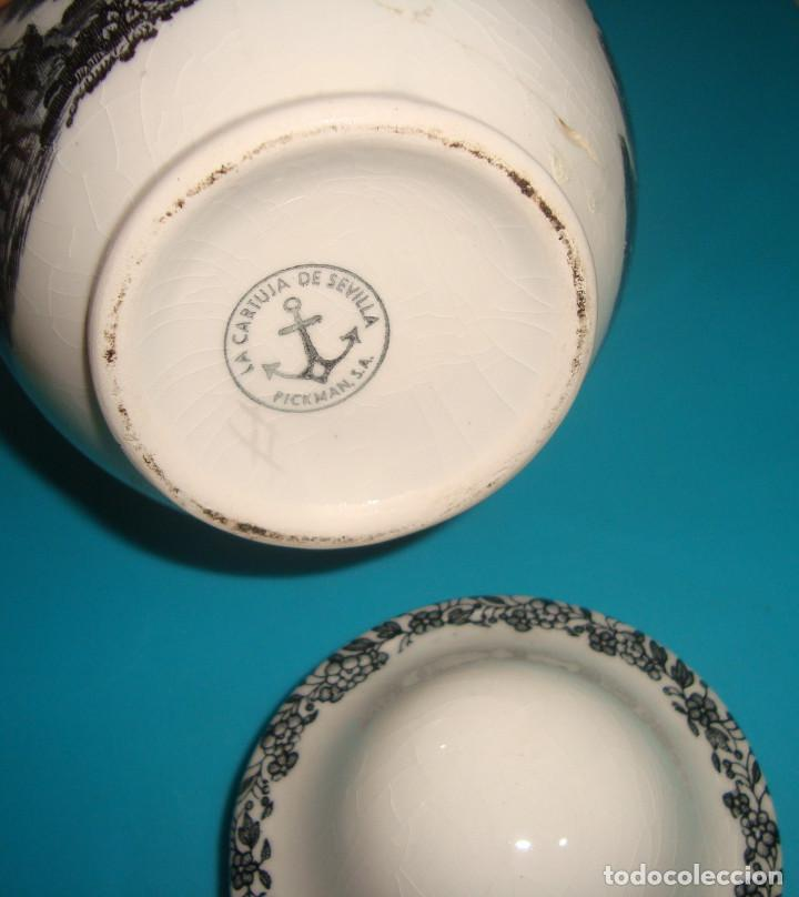 Antigüedades: BOTE - TIBOR - AZUCARERO PORCELANA PICKMAN - Foto 4 - 64506299