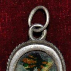 Antigüedades: RELIQUIA CON MARCO DE PLATA DE FINALES DEL SIGLO XVIII . Lote 64543299