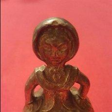 Antigüedades: CAMPANA FIGURA DE MUJER EN METAL DE LATON ENVIO CERTIFICADO GRATIS. Lote 64591943