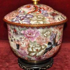Antigüedades: BONITO POTICHE CHINO EN ESMALTE CLOISINNE (ROYAL PALACE) PRINCIPIOS SIGLO XX. Lote 64595319