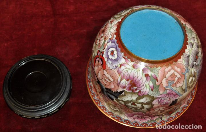 Antigüedades: BONITO POTICHE CHINO EN ESMALTE CLOISINNE (ROYAL PALACE) PRINCIPIOS SIGLO XX - Foto 2 - 64595319
