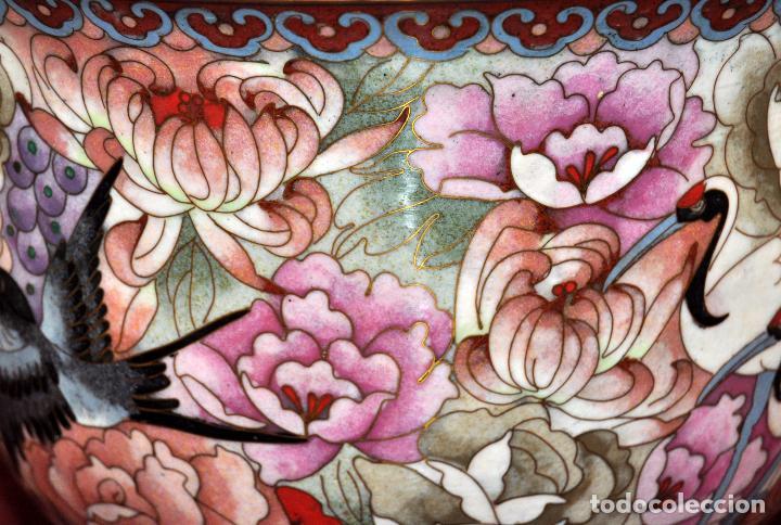 Antigüedades: BONITO POTICHE CHINO EN ESMALTE CLOISINNE (ROYAL PALACE) PRINCIPIOS SIGLO XX - Foto 6 - 64595319