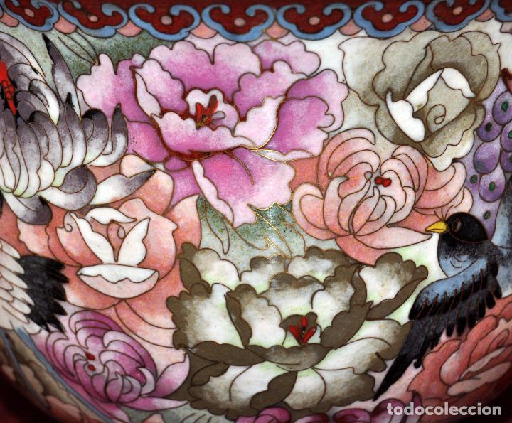Antigüedades: BONITO POTICHE CHINO EN ESMALTE CLOISINNE (ROYAL PALACE) PRINCIPIOS SIGLO XX - Foto 10 - 64595319