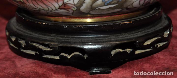 Antigüedades: BONITO POTICHE CHINO EN ESMALTE CLOISINNE (ROYAL PALACE) PRINCIPIOS SIGLO XX - Foto 15 - 64595319