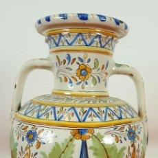 Antigüedades: JARRON EN CERAMICA ESMALTADA. TALAVERA. RUIZ DE LUNA. SIGLO XX. . Lote 64686383