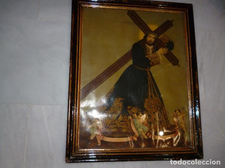 antiguo cuadro con lámina de jesús nazareno y - Comprar Antigüedades ...