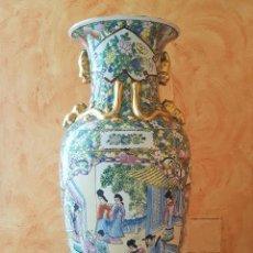 Antigüedades: GRAN JARRÓN ANTIGUO EN PORCELANA CHINA SATSUMA ZHONGGUO TO ZHI JIN PIN, ESMALTES MORIAGE Y SELLADO .. Lote 109261252