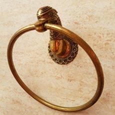 Antigüedades: TOALLERO ANTIGUO ZOOMORFO DE BRONCE MACIZO .. Lote 91821122