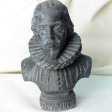 Oggetti Antichi: BUSTO DE MIGUEL DE CERVANTES EN PLOMO. Lote 64807875