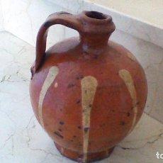 Antigüedades: CANTARO DE CERAMICA DE SALVATIERRA DE LOS BARROS. 21CM. DE ALTURA. Lote 64847607