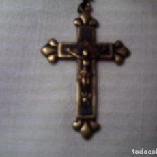Antigüedades: ANTIGUO CRUCIFIJO METAL Y MADERA. 45X30 MM.. Lote 64862179
