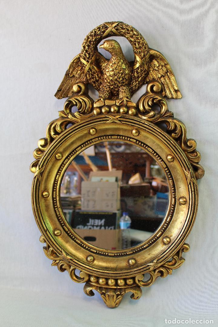Espejo dorado con aguila comprar espejos antiguos en for Espejo dorado