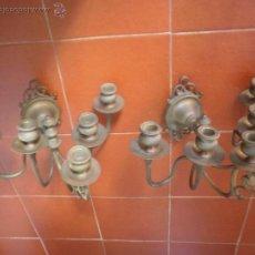 Antigüedades: CANDELABROS DE PARED.. Lote 48533390
