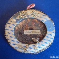 Antigüedades: (ANT-161108)ANTIGUO RELICARIO TELA Y CRISTAL. Lote 64929723